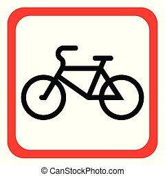 A bicycle icon on a white background. Vector illustration.