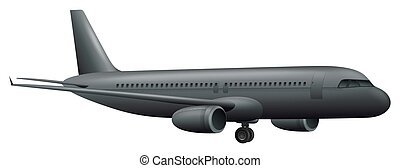 A Big Airplane on White Background