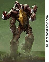 A big and ferocious creature