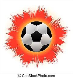 A big ball of fire engulfed fierce kick.