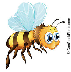 A big bee - Illustration of a big bee on a white background