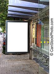 Bus Stop Advertisement