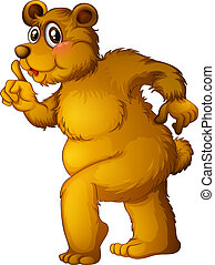A big brown bear