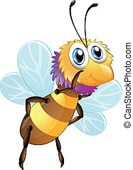 A big bumblee bee - Illustration of a big bumblee bee on a...