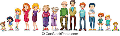 A big extended family - Illustration of a big extended ...