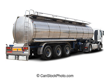 Fuel Tanker Truck - A Big Fuel Tanker Truck Isolated on...