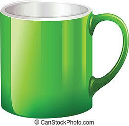 A big green mug