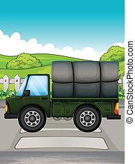 A big green truck