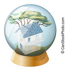A big house inside the crystal ball