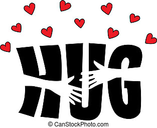 a big hug header or banner valentines day or other ...