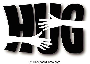 a big hug header or banner
