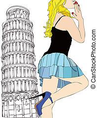 A big kiss from Pisa