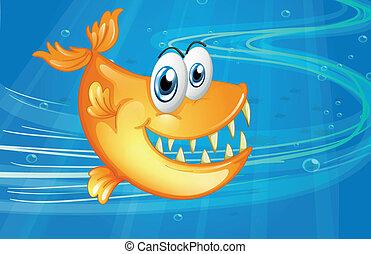 A big orange fish