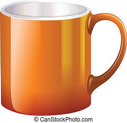 A big orange mug
