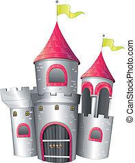 A big palace - Illustration of a big palace on a white...