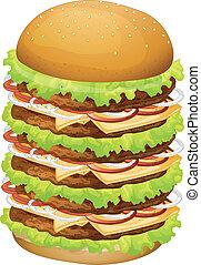 A big pile of hamburger - Illustratoin of a big pile of...