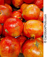 a big pomegranates in the market