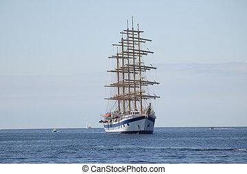 a big sailing boat