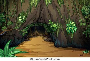 A big tavern - Illustration of a big tavern inside the...