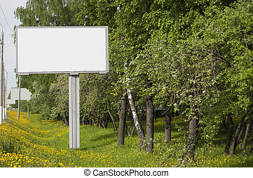 A billboard without inscriptions, empty.