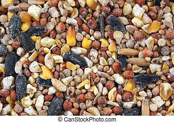 Bird seed Texture background
