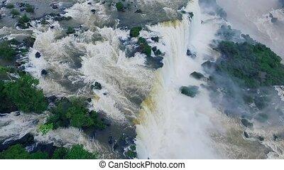A bird's eye view of the Iguazu Falls. Shevelev.