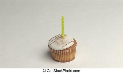 A Birthday Cake - Stock Video Footage of a Birthday Cake...