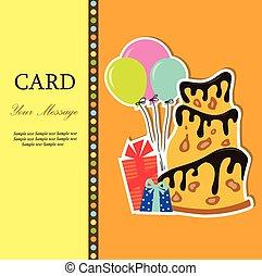A birthday greeting card