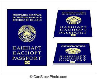 A bitmap illustration of a Belarusian passport