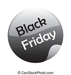 black friday - a black and grey icon for black friday
