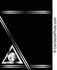 A black and Silver Business card