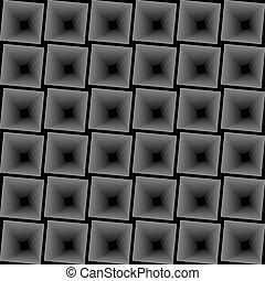 black and white optical illusion.
