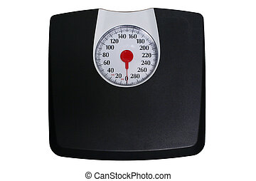 Bathroom Scale - A black Bathroom Scale with speedometer ...