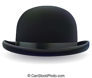 black bowler hat - a black bowler hat on a white background