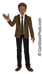 A Black Businessman on White Background