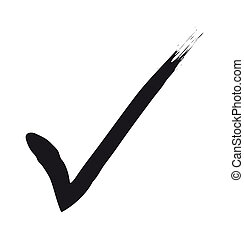 a black check mark - 2d illustration of a black check mark