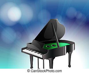 A black classical piano