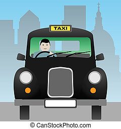 Taxi Cab - A Black London Taxi Cab