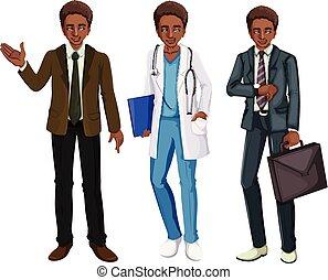 A Black Man Wearing Uniform