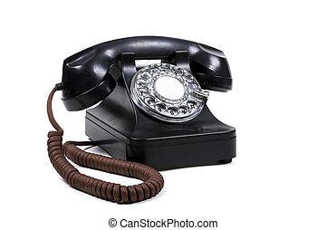 A Black Rotary Phone