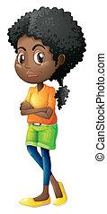 A Black teenager - Illustration of a Black teenager on a...