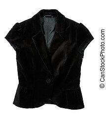 a black velvet waistcoat