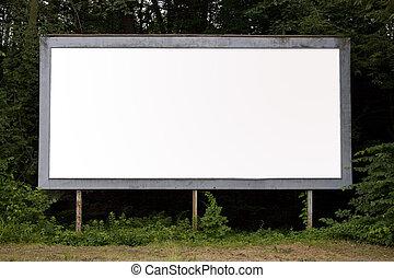 billboard - A blank billboard find in a suburban area with...