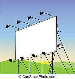 A Blank Billboard with Landscape