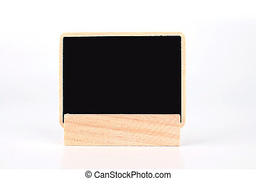 a blank blackboard label isolated on a white background