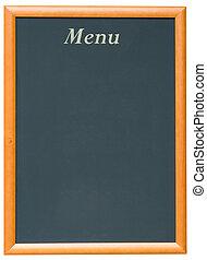 Blackboard Menu - A Blank Blackboard Menu for a Restaurant