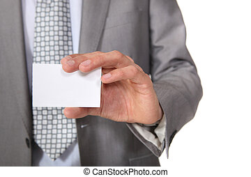 A blank business card