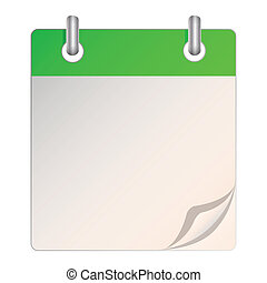 A blank calendar - Illustration of a blank calendar on a...