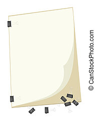 A Blank Clipboard with Group of Paper Clip