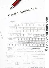 a blank credit application form